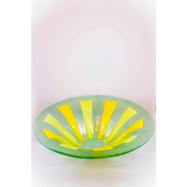 Mid-Century Higgins Fusion Glass Bowl For Sale - Image 5 of 5