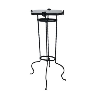 1920s French Iron Pedestal With Rosettes