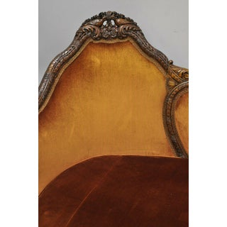 Early 20th Century Antique Victorian Swan & Kissing Bird Carved Frame Mahogany Sofa Preview
