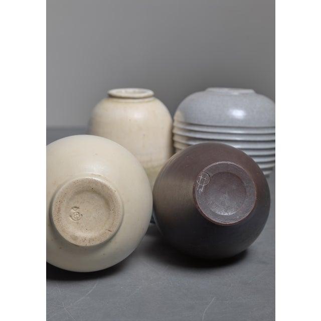High End Set Of Four Jan Bontjes Van Beek Earthenware Vases Germany