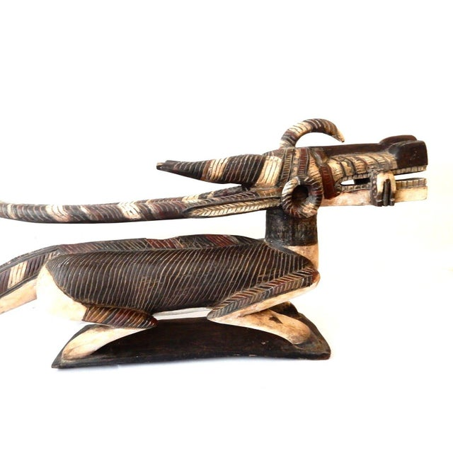 Mansion Size Bambara Chiwara Wood Sculpture For Sale In New York - Image 6 of 10