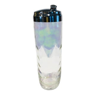 Mid-Century Iridescent Glass Cocktail Shaker For Sale