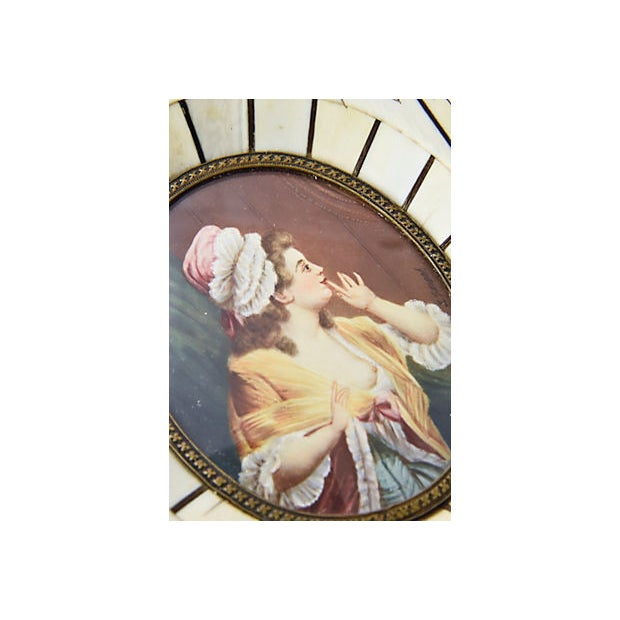 19th Century Antique Miniature Lovers Portrait Paintings - A Pair For Sale In Miami - Image 6 of 8