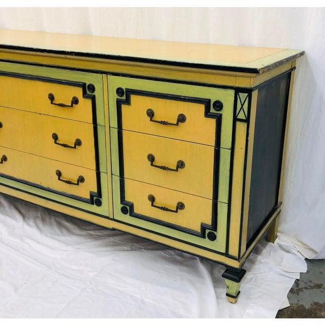 Metal Vintage Painted Credenza Dresser For Sale - Image 7 of 12