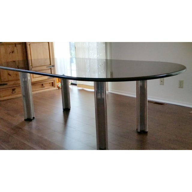 1980's Knoll Racetrack Black Marble Table - Image 5 of 7