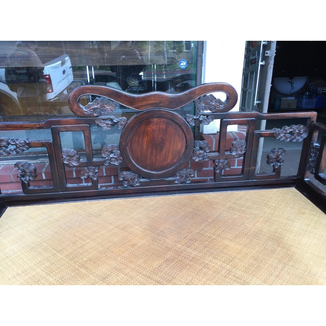 Antique Carved Opium Bed - Image 4 of 11