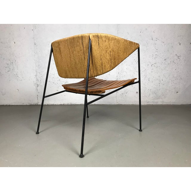 Iron Exceptional 1950's Mid Century Modern Lounge Chair by Arthur Umanoff for Shaver Howard & Raymor For Sale - Image 7 of 13