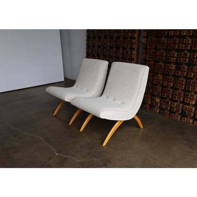Milo Baughman Scoop Chairs for Thayer Coggin Circa 1955 - a Pair For Sale - Image 12 of 13