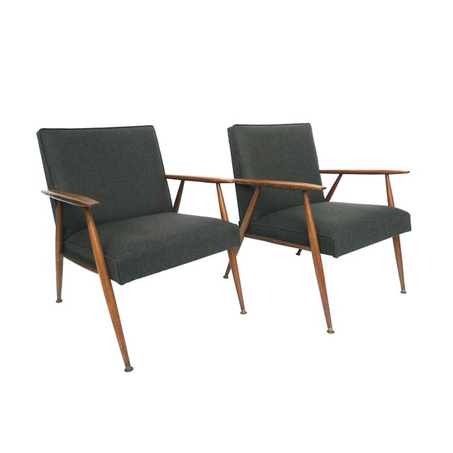 Midcentury Italian Lounge Chairs - Pair - Image 1 of 10
