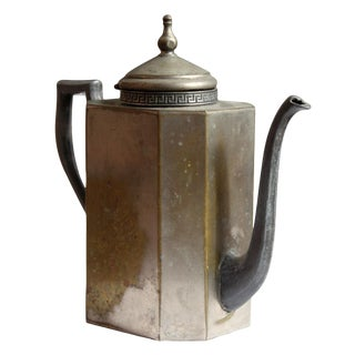Silver Plated Greek Key Teapot For Sale