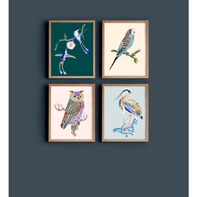 Contemporary Heron Giclée Print in Egg Blue For Sale - Image 4 of 4