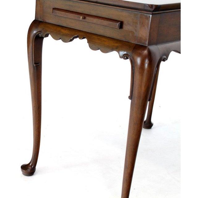 Kittinger 1970s Queen Anne Kittinger Cw-8 Mahogany Tea Table For Sale - Image 4 of 13