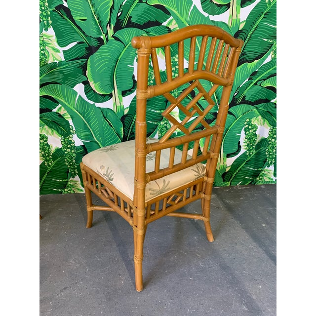 Vintage Rattan Dining Set Table and Four Chairs For Sale - Image 4 of 10