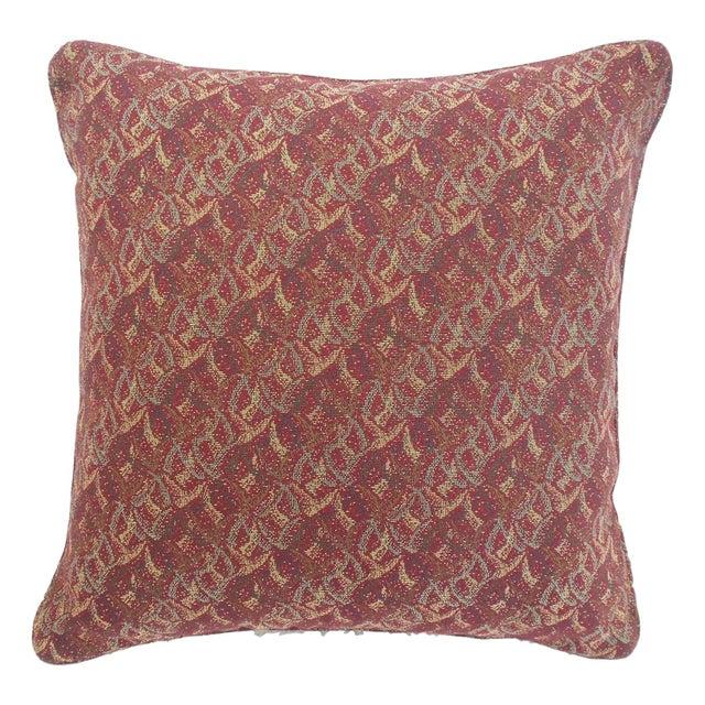 Jonathan Adler Style Vintage Chinoiserie Geometric Vase Needlepoint Pillow - Image 4 of 5