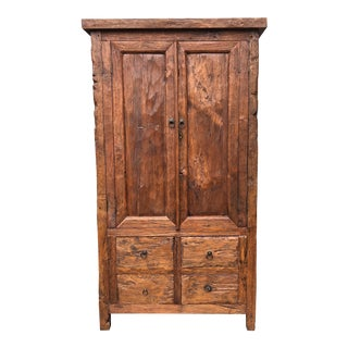 Reclaimed Barn Wood Armoire For Sale