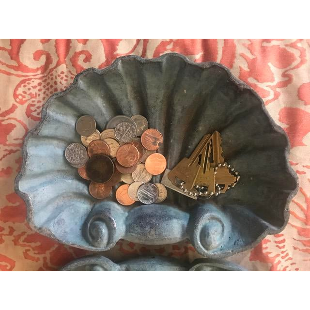 Metal Scallop Shell Dishes - a Pair For Sale - Image 4 of 5