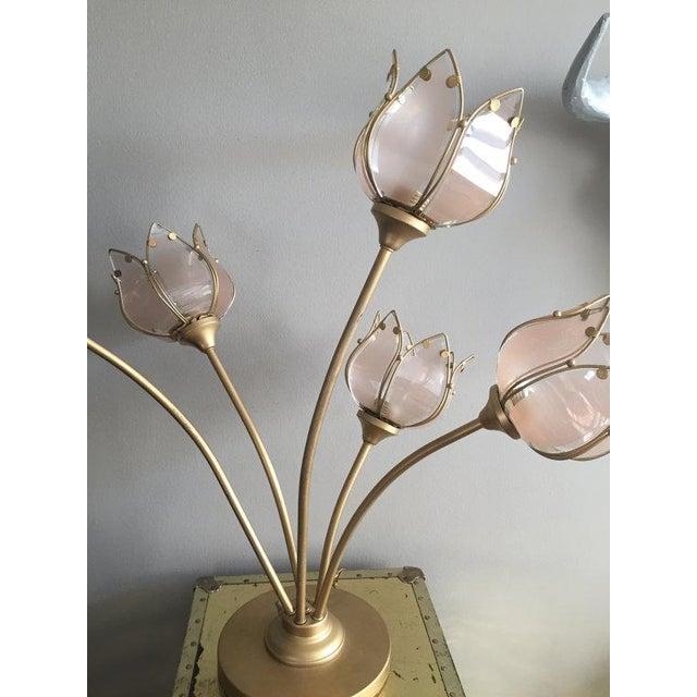 white table lamp tulip