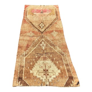 1950s Turkish Oushak Wide Runner For Sale