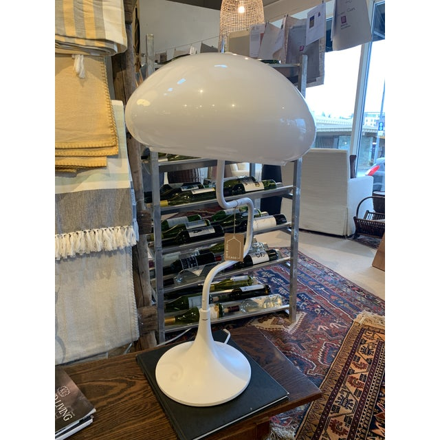 Mid 20th Century Mid-Century White Swivel Lamp For Sale - Image 5 of 6