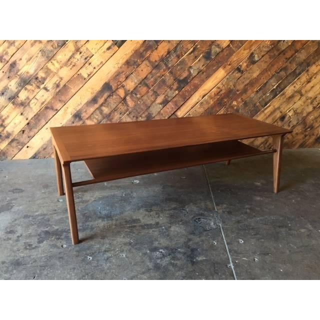 Drexel-Style Walnut Coffee Table - Image 2 of 6