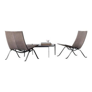 Fritz Hansen Limited Edition Poul Kjærholm 60th Anniversary Set For Sale