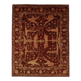 Contemporary Oushak Style Paprika Rug - 7′7″ × 9′8″ For Sale