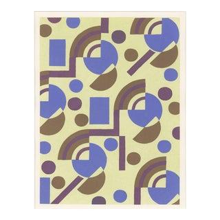 "Serge Gladky Art Deco ""Composition No. 8"" Pochoir For Sale"