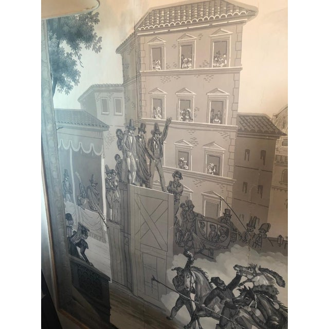 Grisaille Panel Depicting Neapolitans Watching Horse Racing For Sale - Image 9 of 10