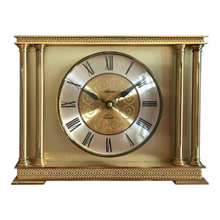 Brass Mantel Clock from Atlanta, 1979 For Sale