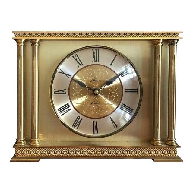 Brass Mantel Clock from Atlanta, 1979 For Sale