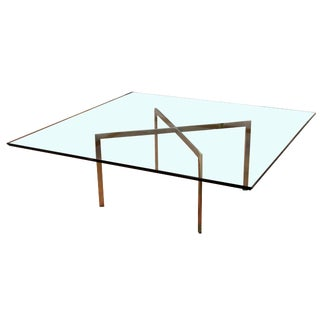 Mid-Century Modern Mies Van Der Rohe Knoll Square Coffee Table For Sale