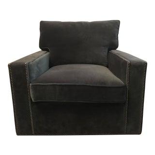 Blue Velvet Bernhardt Swivel Chair
