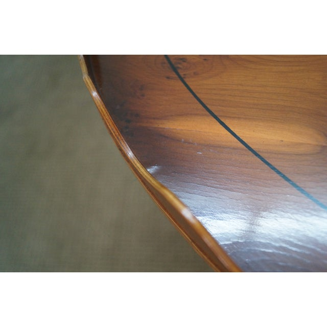 English Yew Wood Inlaid Tray Top Coffee Table - Image 10 of 10