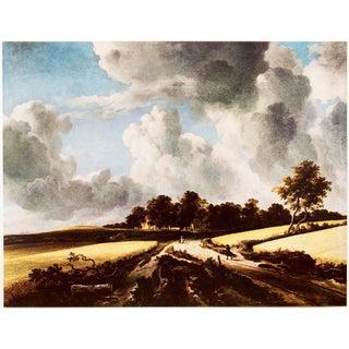 1950s Jacob Van Ruisdael, Wheat Fields Vintage Lithograph For Sale