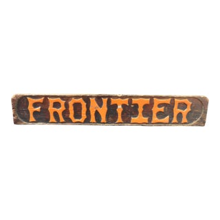 Large Antique Advertising General Country Store Rustic Wood Frontier Sign 5 1/2 Feet For Sale
