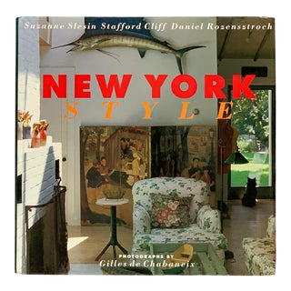 First Edition 1992 New York Style Book by Suzanne Slesin For Sale