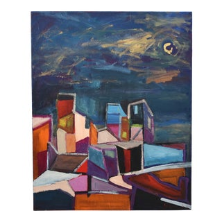 "Original Juan Guzman ""Ventura De Noche"" Abstract Modern Painting For Sale"