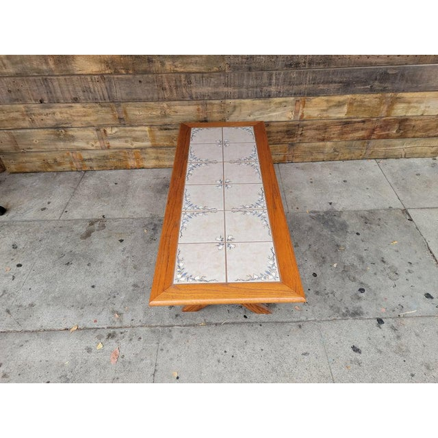 Wood 1980s Vintage Tile Top Coffee Table For Sale - Image 7 of 13