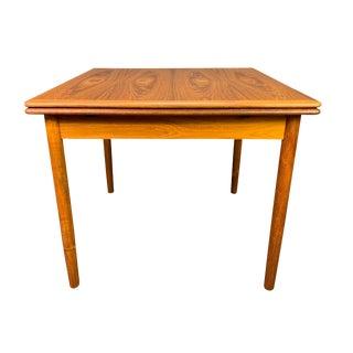Vintage Danish Mid Century Modern Teak Compact Dining Table For Sale
