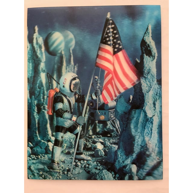 Lenticular Animation Moon Landing Astronaut Prints From 1966 - Set of 4 For Sale - Image 4 of 12