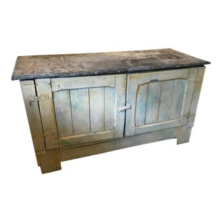 French Provincial Zinc Top Farmhouse Cabinet