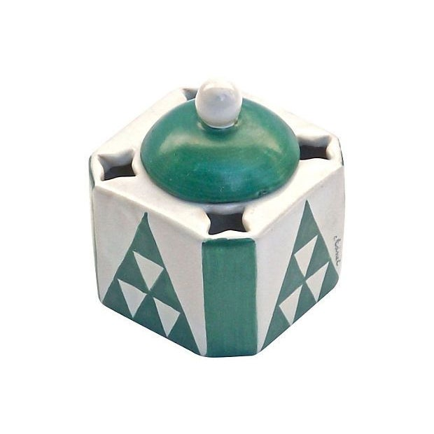 Vintage Art Deco Adnet Ceramic Inkwell - Image 1 of 5