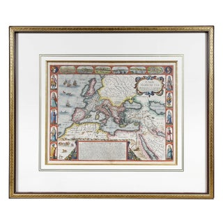 Framed Map of Roman Empire For Sale
