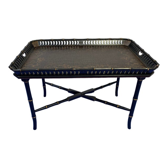 Chinoiserie Folding / Coffee Tray Table For Sale