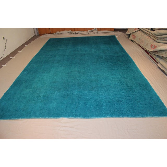 Hand-woven overdyed vintage rug. All of our rugs are unique. You will receive the one that is pictured! Turkey (Anatolia)...