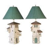 Image of Pair of Mediterranean Villa Table Lamps For Sale