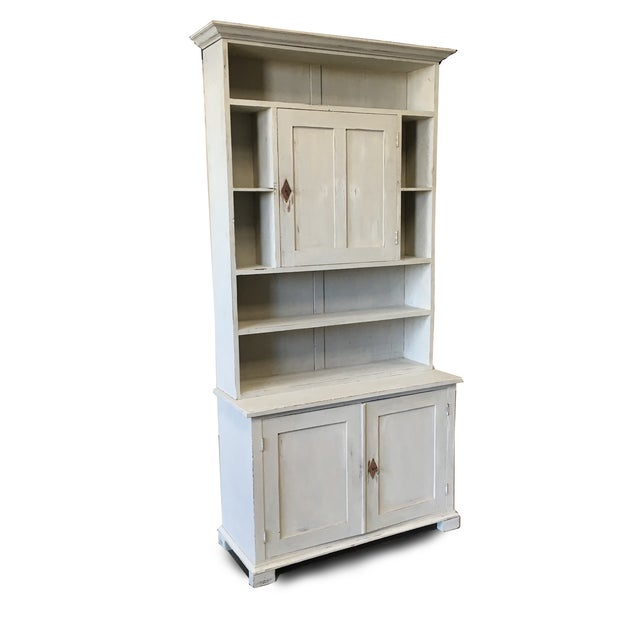 Gray Swedish Antique Wall Bookcase Cabinet For Sale - Image 8 of 8