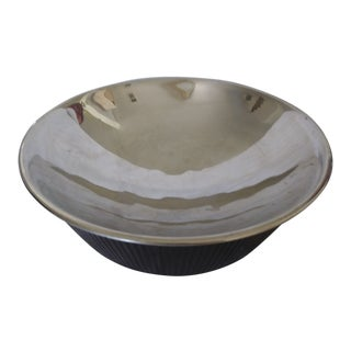 Michael Aram Silver and Brown Decorative Bowl For Sale