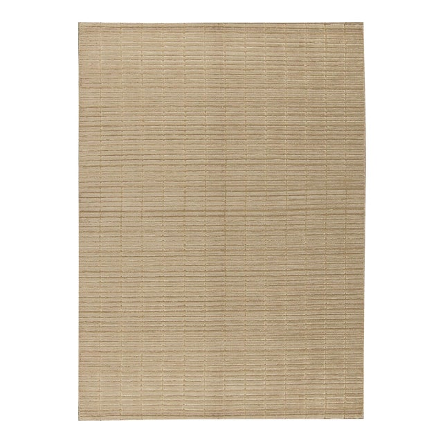 """Contemporary Hand Woven Rug - 4'9"""" x 6'9"""" For Sale"""