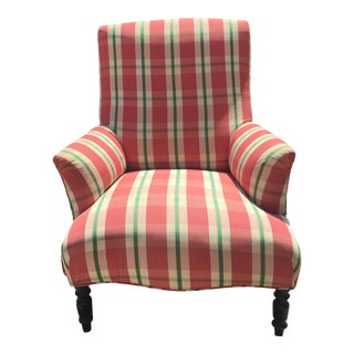 Vintage Clarence House Plaid Chair For Sale